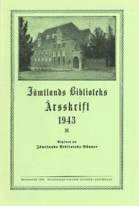 Jämtlands biblioteks årsskrift 1943