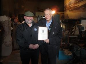 Tage Levin får Zetterströmmedaljen