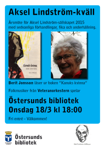Aksel LIndström-kväll