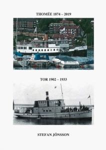 Ångbåten Thomée i modern tid med Frösön i bakgrunden och ångbåten Tor på ett gammalt svartvitt foto.
