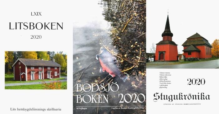 En röd gårdslänga, en röding i vatten och Stuguns gamla rosa kyrka.